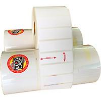 3 cuộn giấy decal dùng để in mã vạch, in tem nhãn TOPCASH D80 có sẵn lớp keo dán lên sản phẩm - Hàng chính hãng