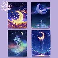Set 4 bao tập bọc sách vở Dream Moon - BST Giấc mơ ánh trăng tuyệt đẹp
