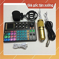 Mic thu âm livestream bm900 sound card k300 - Trọn bộ thu âm sound card k300 2021 hỗ trợ autotune bluetooth