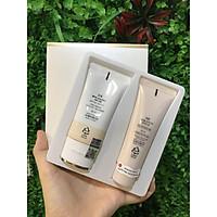 Bộ Kem nền BB Cream che khuyết điểm hoàn hảo OHUI Ultimate Britening SPF50+/PA++++ 45ml set và sữa rửa mặt Miracle foam 40ml