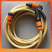 Vòi tưới cây rửa xe️️Evoucher Vòi tưới cây rửa xe 6m-7m-8m tay bóp tùy chỉnh nhiều chế độ 319498622-1622-3 mầu cam