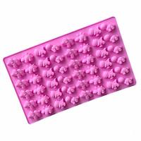Khuôn Silicon làm kẹo dẻo 48 con khủng long - Khuôn hồng
