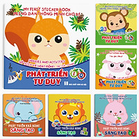 Combo 6 cuốn: Miếng dán Thông minh cho bé (Phát triển EQ - IQ) - My First Sticker Book