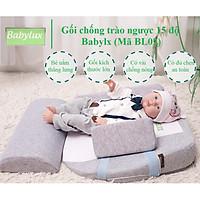 Gối chống trào ngược 15 độ babylux ( Mã BL02 - phiên bản cải tiến: kích thước lớn, có đủ chẹn chân & chẹn 2 bên)- dùng cho bé 0-36 tháng