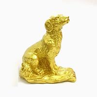 Tượng con Chó vàng, chất liệu nhựa được phủ lớp màu vàng óng bắt mắt, dùng trưng bày trong nhà, những nơi phong thủy, cầu mong may mắn, tài lộc - TMT Collection - SP005238