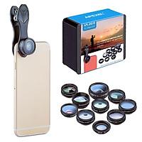 Bộ Lens Ống Kính Chụp Ảnh 10 Trong 1 Cho Điện Thoại Thông Minh