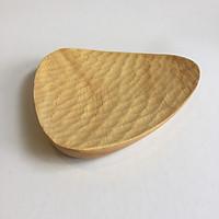 Đĩa gỗ cao su hình tam giác trang trí