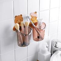 Cốc gấu đựng bàn chải đánh răng, kem đánh răng - Cốc gấu tiện ích đa năng