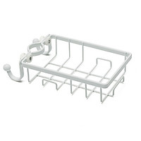 Rổ treo vòi nước rửa chén, vòi nước phòng tắm, có móc treo tiện lợi, khung sắt siêu chắc chắn
