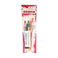 Combo Zebra 4 - 2 Bút Bi Bấm Zebra ( Màu Hồng + Xanh Lá ) (Tặng Kèm 1 Viết Bi)
