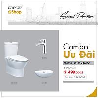 Combo sản phẩm bàn cầu+lavabo+vòi lavabo lạnh - CD1320+L2150+B060C