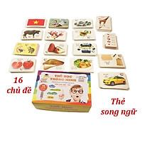 Bộ thẻ học thông minh LOẠI CHUẨN 16 chủ đề 416 thẻ cho bé Glen Doman_thẻ thông minh cho bé