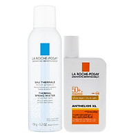 Bộ Chăm Sóc Da Kem Chống Nắng Không Màu Không Nhờn Rít Cho Da Nhạy Cảm La Roche-Posay Anthelios Xl Fluid Spf50+ Uva & Uvb 50Ml + Nước Khoáng Làm Dịu Và Bảo Vệ Da - Thermal Spring Water Sensitive Skin La Roche Posay 150Ml