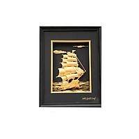 Tranh Thuyền Mạ Vàng 24K