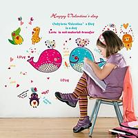 Decal dán tường valentine days ZOOYOO SK9092