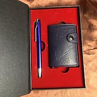 Bộ Quà Tặng Ví Mini Card Holder 2 in 1 Bút ký Tên Cao Cấp  dành cho Đối Tác, Khách Hàng, Sếp Lãnh Đạo