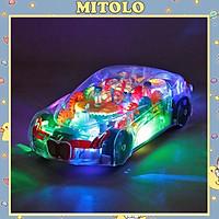 Đồ chơi súng nhạc ,đèn có bánh xe và  phát sáng thu vị  cho bé trai có có đèn nhiều màu