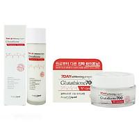 Bộ Toner & Cream Dưỡng Trắng Da 7DAY Whitening Program Glutathione 700V ( Toner & Cream )