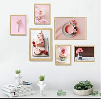 Tranh Canvas treo tường phòng khách, phòng ăn - Bộ 06 tranh hiện đại tặng kèm khung và đinh treo tường PVP-TP189