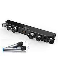Bộ Sản Phẩm Karaoke Gia Đình Loa Soundbar 5.1 Bluetooth Hát Karaoke AMOI A9 Tặng Kèm 2 Micro Không Dây Cao Cấp