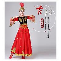 Trang phục cổ trang mỹ nữ tân cương - trang phục múa - hán phục múa