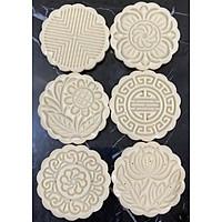 Khuôn bánh trung thu lò xo 6 mặt tròn 100gr
