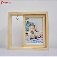 Khung ảnh gỗ để bàn xoay, khung ảnh trang trí Anzzar