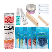 Wax Bean Kit Used with Home Wax Warmer for Home Waxing Multi-functional Hair Removal Tools After & Pre Wax Treatment