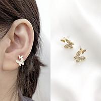Bông tai con bướm đính đá
