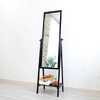 Gương Đứng Soi Toàn Thân Trang Điểm Khung Gỗ Hàn Quốc Phối Kệ Shelf Mirror Nội Thất Kiểu Hàn BEYOURs