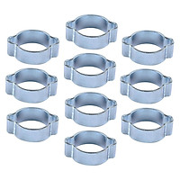 PACK OF 10 x (23 TO 27mm) O CLIPS 2 EAR CLAMPS Zinc Plated