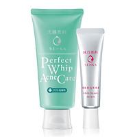 Bộ đôi Senka sạch mụn trị thâm (Sữa rửa mặt trị mụn Senka 100g + Serum Senka dưỡng trắng da 35g)