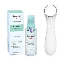 Tinh chất ngăn ngừa và chăm sóc da mụn Eucerin ProAcne Super Serum 30ml + Tặng máy massage mặt ion