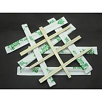 5 túi  Đũa gỗ bồ đề kèm tăm bao giấy xanh lá (1 túi gồm 100 đôi)