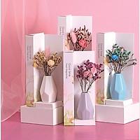 Lọ tinh dầu khuếch tán hương nước hoa thơm phòng kèm hoa khô trang trí - phụ kiện làm thơm phòng mã TD108 ( giao màu ngẫu nhiên )