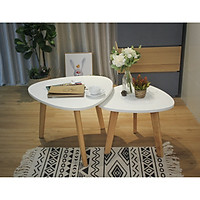 Combo bàn oval trắng