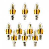 10 Bóng đèn Led nến 5w quả nhót đuôi E14 as trắng Posson LCP-5E14