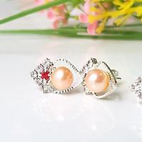 Bông Khuyên Tai Ngọc Trai Tự Nhiên Kiểu nụ trái tim - Trang Sức Cô Tấm  - Miss Pearl(6ly) - CTJ6606