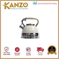 Ấm đun nước bếp từ Kanzo KZ-G68 còi báo [LUXURY] 3.0 L - Inox 304 - Phù hợp cho mọi loại bếp - Chất lượng Đức