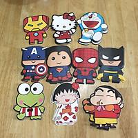 Bao Lì Xì 2020 Combo 10 Cái Các nhân vật hoạt hình Doreamon Miruko Spider man Captain , Ironman, Cu Shin