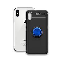 Ốp điện thoại Iphone X / XS - Chất liệu TPU Carbon Silicone mềm mại, chống bẩn - Iring màu xanh - Hàng Chính Hãng