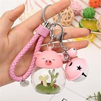 Móc khóa lợn con baby cute có Đèn LED phát sáng_MK05