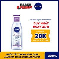 Nước Tẩy Trang Nivea Acne Care Make Up Clear Micellar Water (200ml)