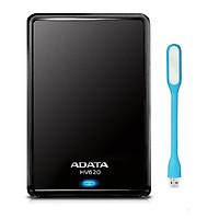 Ổ Cứng Di Động ADATA HV620 500GB - USB 3.0 - Hàng chính hãng + Tặng Đèn Led
