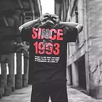 Áo thun oversize nam nữ in decal lụa SINCE 1993 Unisex chất liệu vải tốt cotton M L XL màu đen Trumunisex