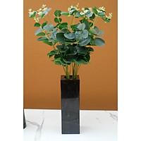 [Đá tự nhiên] Bình cắm hoa bằng đá tự nhiên BHD02 - Đá Đen Ý