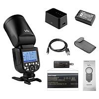 Godox V1O Professional Camera Flash Speedlite Speedlight Round Head Wireless 2.4G Compatible with Olympus Cameras for - Black - JP Plug