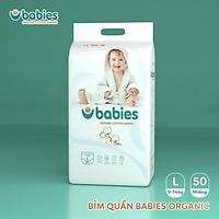 TÃ HỮU CƠ BABIES ORGANIC VIỆT NAM SIZE M54(6kg-11kg) L50(9-14kg) XL46(12-17kg) 2XL40>15kg