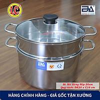 Bộ Nồi xửng hấp gà nấu xôi Inox Đông Á đáy từ cao cấp - Dùng được bếp từ - Hàng Chính Hãng
