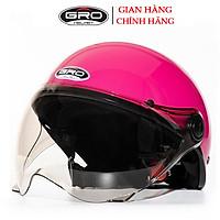 Mũ bảo hiểm nửa đầu GRO ST05 có kính, sơn trơn nhiều màu thời trang đẹp cho nam và nữ